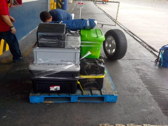 our baggage was stored on  pallets in their warehouse