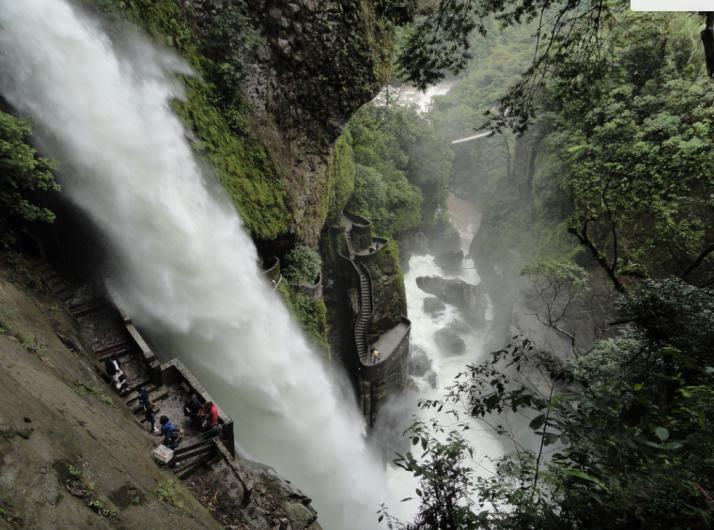 Pilar del Diablo, Banos, Ecuador